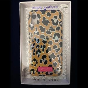 """""""Simply Southern"""" Leopard Sparkle IPhone XR Case!"""